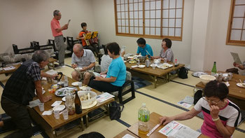 手作り料理がうれしい青島後援会