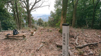 眺望はほとんどないが、志太平野を見下ろす山城に絶好の場所であった