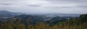 焼津から藤枝市中心部方向の眺望