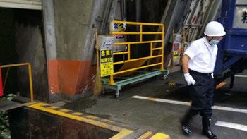 高柳清掃工場のゴミ排出ピット