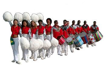 Boek Batucada slagwerk groep bij Farofa braziliaans entertainment.