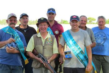 L - R:  Back - Peter Finn,  Alan Kidd,  Mark Rosenboom,  Peter Roper,  Garry Martin. Front - Brian Reid,  Richard Sammon.