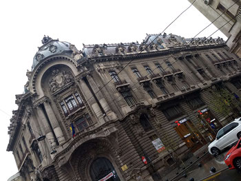 Beautiful architecture in old town Bucharest