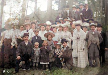 Betriebsausflug, Fa. R. Burger & Co., Thermos-Gesellschaft m.b.H., Berliner-Grunewald 1907