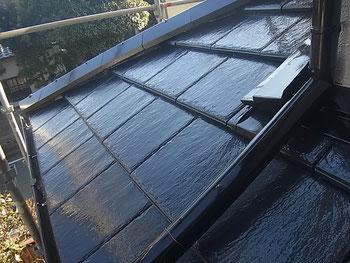 熊本市K様家の瓦屋根を当社お勧めの高光沢・高耐久・防カビ塗料にて塗替えました。