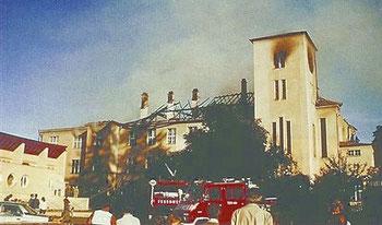Haupthaus nach dem Brand