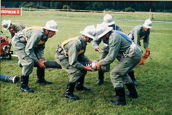 Goldübung beim Landesfeuerwehrfest in Bludesch 1988