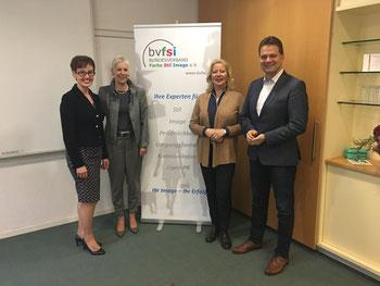Präsidium bvfsi:  v.l. Anne Helen Wiese, Petra Schreiber, Birgit A. Eggerding, Bernd Braun