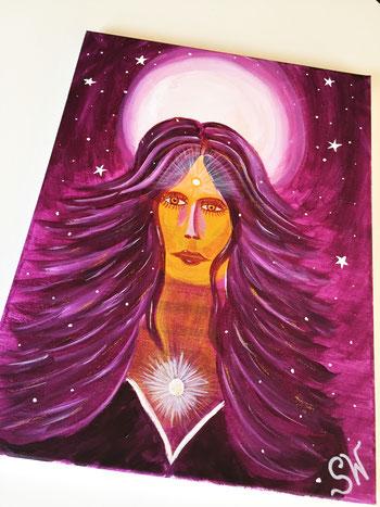 Göttin Kunst Künstlerin Stefanie Will Spiritualität Bewusstsein Entwicklung Göttinnenbild Energiebild Energie Quelle Liebe Ammersee Stefanies Wandmagie