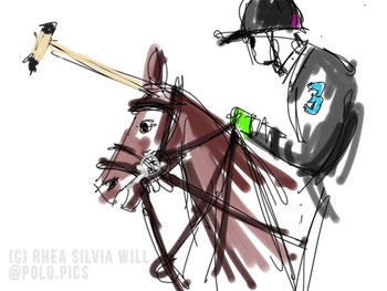 "(c) Rhea Silvia Will ""Poloplayer Scribble"""