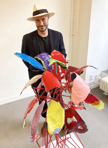Alexander Skorobogatov, Künstler, Pflanzenskulpturen aus Metall und Silikon, kunstStory