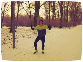 Mein allererster Trainingslauf im Schnee vor 3 Tagen...