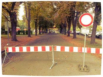 An der Schulstraße wird gesperrt, dort ist Start- und Zielbereich zu sehen...