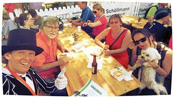 Meine Frau sowie ihre Schwester Diana mit ihrem Lebensgefährten Jürgen und Hündin Mona waren auch als Zuschauer anwesend.