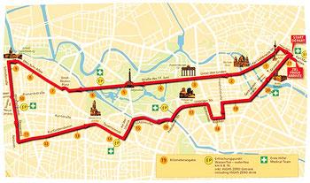 Die Laufstrecke vom Berliner Halbmarathon