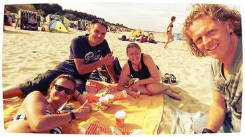 Nach der Ankunft auf Insel Usedom trafen wir mit unseren Freunden Robert II und seine Frau Heike zum Baden an der Ostsee.