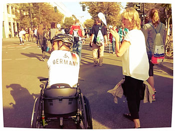Steffen mit seiner Frau Gerlinde beim 41. Berlin Marathon