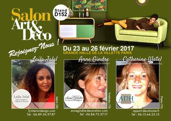 Salon 'Art & Déco', du 23 au 26 février 2017, à la Grande Halle de la Villette (Stand D152)