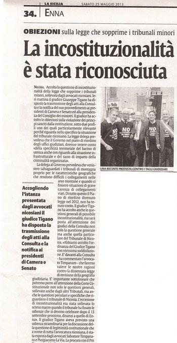 La Sicilia - Sabato 25 maggio 2013