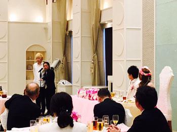 名古屋お笑い芸人 ファニーチャップ 結婚式で漫才