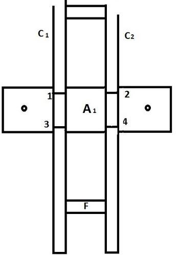 2. Längsträger wird mit Querträger verbunden.