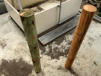 無垢 円柱