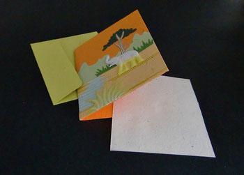 Grußkarten aus Elefantendung, Sri Lanka
