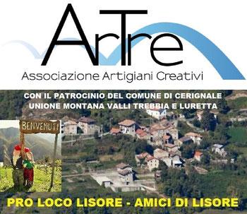 """progetto """"GLI SRAVEIGHI DI LISORE - progetto realizzato da ArTre con gli Amici di Lisore e la Pro Loco"""
