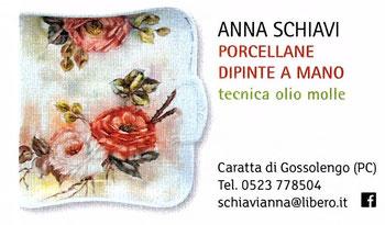 PORCELLANA DECORATA  A OLIO MOLLE     Corso di decorazione insegnante l'artista  ANNA SCHIAVI