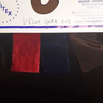 fournisseur de tissu velours