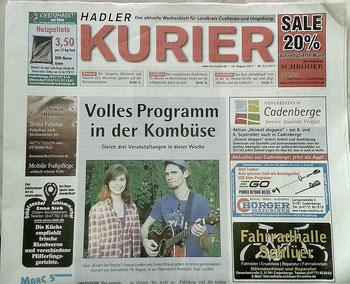 Hadler Kurier Ginger & Lime Kombüse Oberndorf