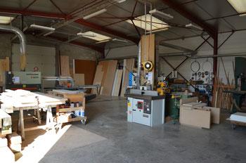 Vue d'ensemble de l'atelier (avec au centre la toupie)