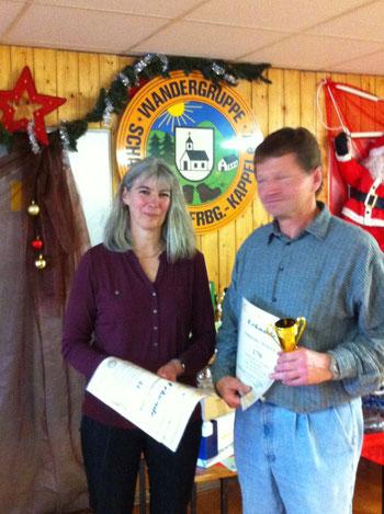 2. Vorsitzende Frau Janoff mit Herrn Schmeißer