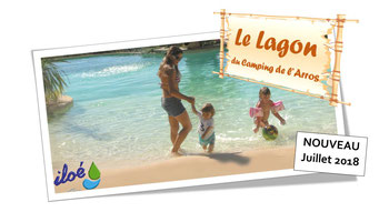 Piscine Camping Gers - Le lagon Camping de l'Arros