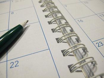 スケジュール帳とボールペン
