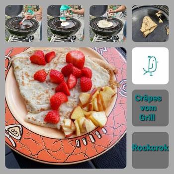 Dein Pinterest Pin für Crêpes vom Grill mit dem Rockcrok® Grillstein von Pampered Chef®