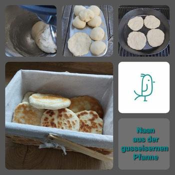 Dein Pinterest Pin für ein leckeres Naan aus der gusseisernen Pfanne von Pampered Chef®