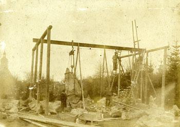 Errichtung des Bismarck-Denkmals