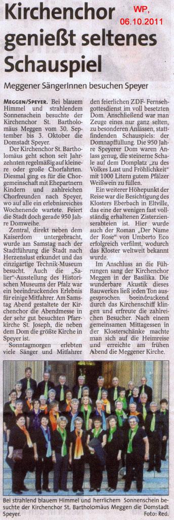 Westfalenpost, 06.10.2011