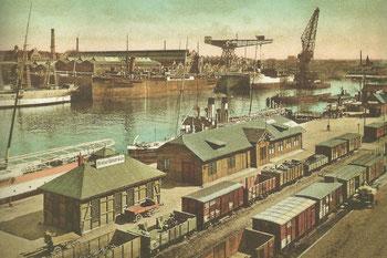 Abb. 4 - Blick von Nordwest auf die Germaniawerft.