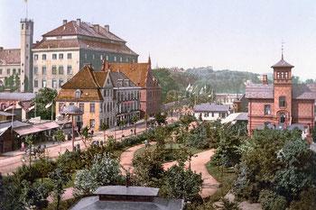 Abb. 2 - Kieler Schloss mit Seegarten