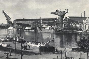 Abb. 1 - Blick von Südwest auf  die Germaniawerft