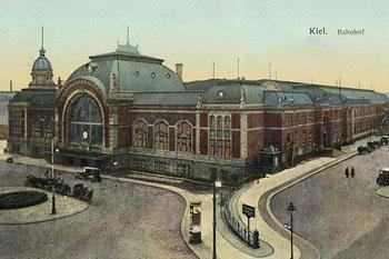 Abb. 1 - Hauptbahnhof Kiel 1910