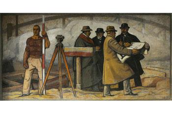 """Abb. 10 - Wandgemälde """"Tiefbau"""""""
