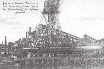 Abb. 3 - Ausrüstungskran mit U-Boot
