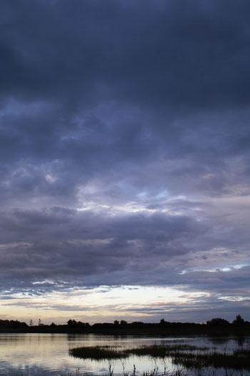 Sonnenuntergang bei Caorle - Abendstimmung am Meer - Wolkenhimmel nach Gewitter