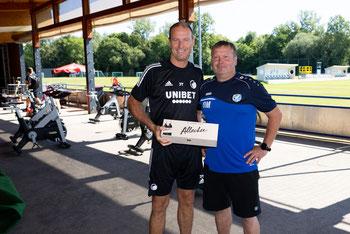 Jess Thorup, Trainer FC Kopenhagen und Andreas Freihammer, Obmann SV Bad Erlach