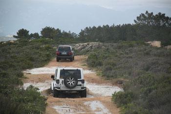 Passage de gué en Alta Rocca - Raid Extreme Sud CORSE