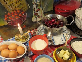 Clafoutis aux Cerises Mère Mitraille - Les ingrédients