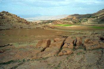 das wild zerklüftete Berg-Yemen